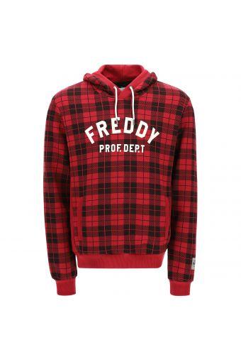 FREDDY TRAINING sweatshirt with an all-over tartan print