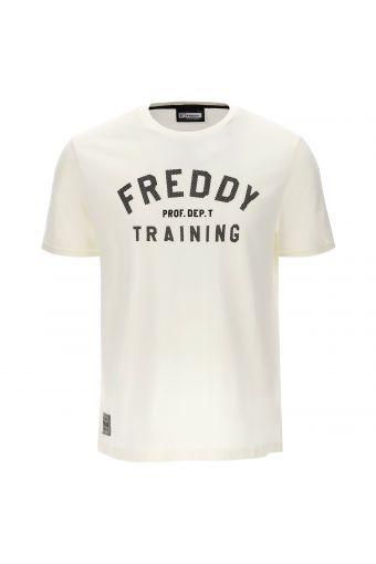Herren-T-Shirt mit kontrastfarbenem Streifendruck