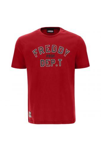 Camiseta para hombre con canesú visible y estampado