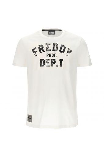 Herren-T-Shirt mit definierter Passe und Druck