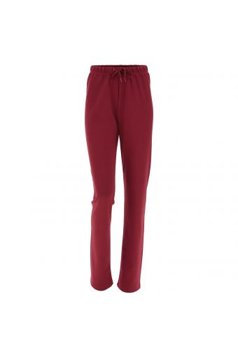 Slim fit cotton athletic trousers