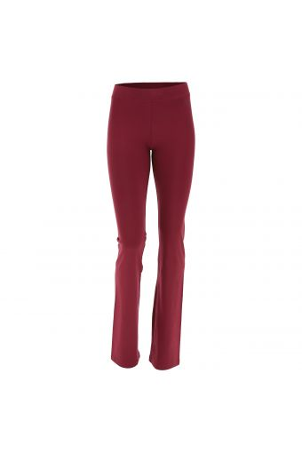 Stretch cotton trousers with a flare leg