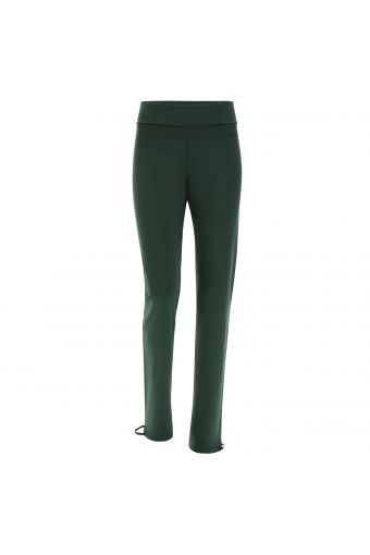 Cotton athletic trousers with drawstring ankles