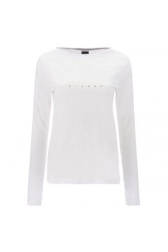 Langärmliges T-Shirt aus Baumwolle mit holografischem Aufdruck