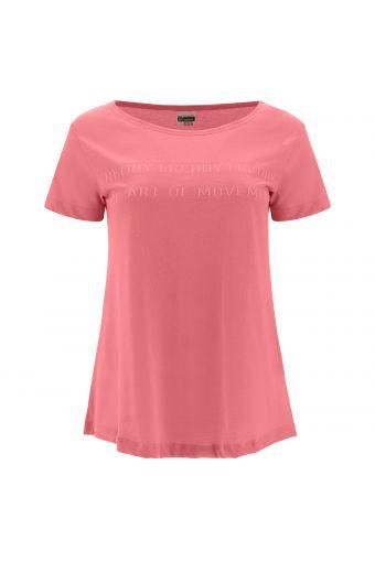 Komfort-T-Shirt aus Baumwolle mit Bateau-Ausschnitt