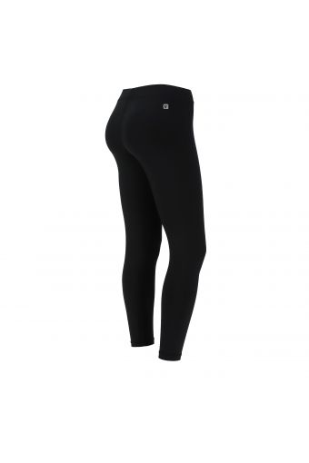 Ankle-length D.I.W.O.® fabric leggings with a print on the colourful lateral band