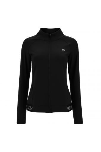 Slim-fit sweatshirt in breathable fabric with prints