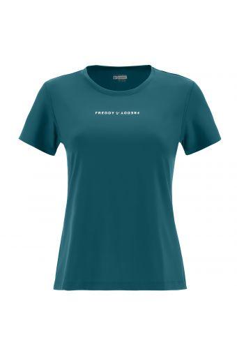 T-Shirt aus atmungsaktivem D.I.W.O.® mit mattem Aufdruck