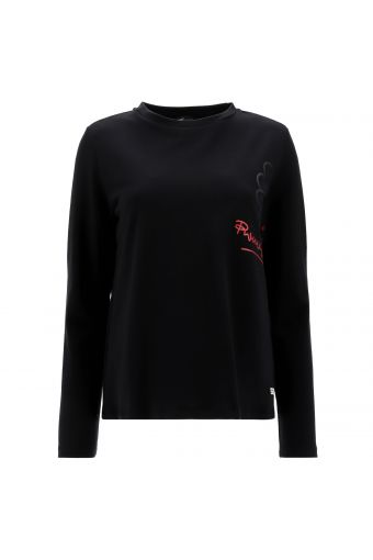 Comfort-fit sweatshirt with a winged heart motif - Romero Britto Collection