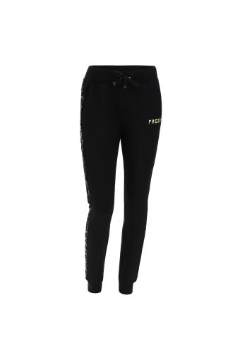 Joggers with black sequin lateral bands
