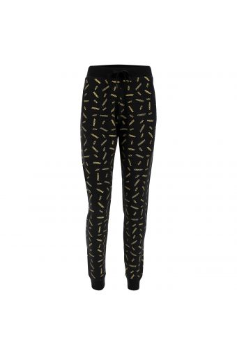 Pantalón joggers negro con estampado total FREDDY MOV. dorado