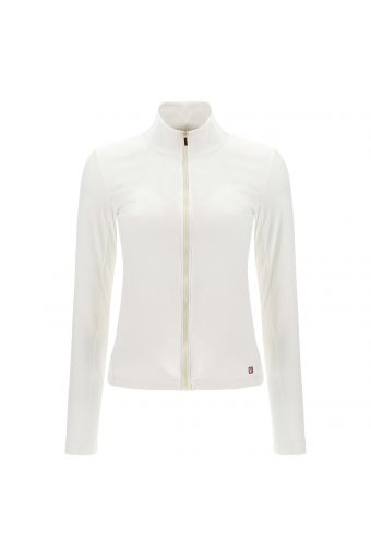 Slim-fit zip-front sweatshirt in recycled fabric - 100% Made in Italy