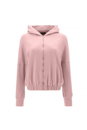 Comfort-fit cropped hoodie - 100% Made in Italy
