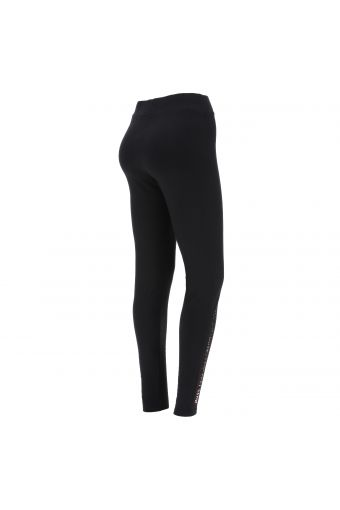Black leggings with a FREDDY MOVE YOUR MIND print on the lower leg