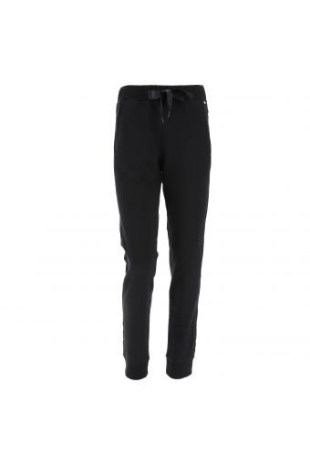 Athletic trousers with lateral lace bands