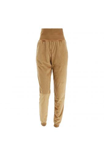 Corduroy joggers with a foldable waistband