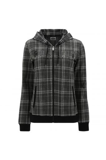 Glen plaid hoodie