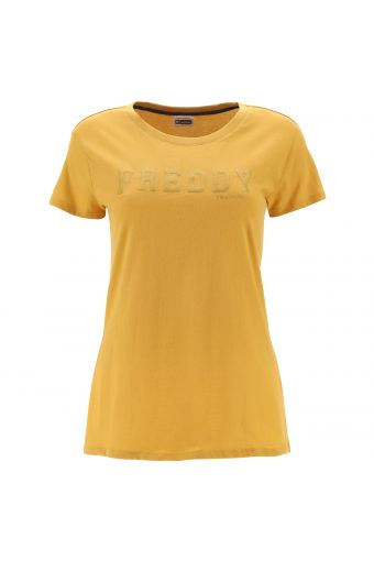 T-shirt with a raised glitter FREDDY print