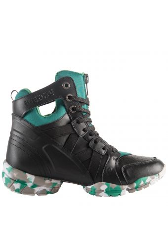 3PRO Bootie with triple sole and breathable D.I.W.O.® lining, black/green