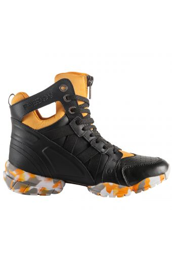 3PRO Bootie with triple sole and breathable D.I.W.O.® lining, black/yellow
