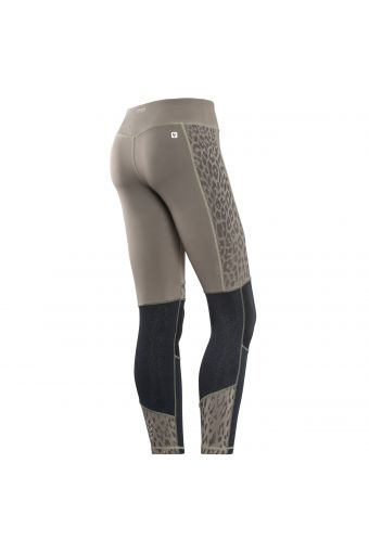 Leggings SUPERFIT 7/8 shiny details in animal pattern and glitter inserts