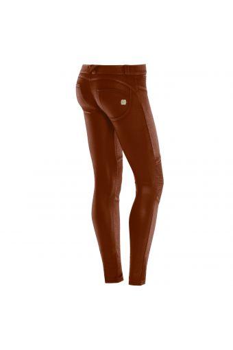 WR.UP® skinny taille basse en coton enduit avec des panneaux aux genoux