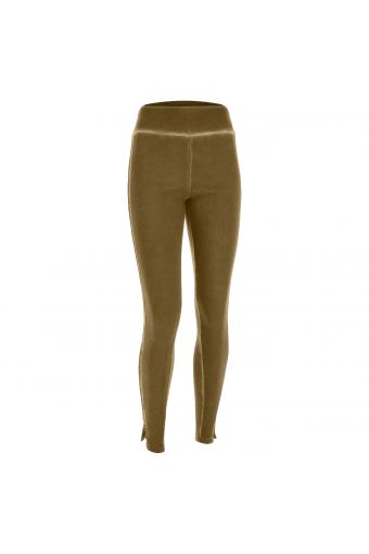 Skinny brushed fleece trousers with sequins