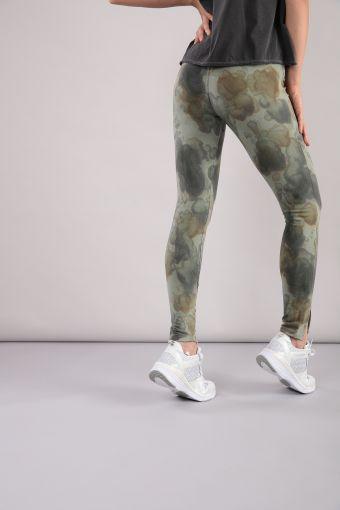 Camouflage brushed fleece leggings