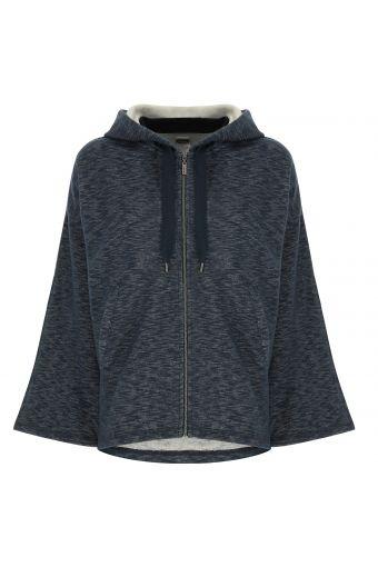 Sweatshirt mit weiten Ärmeln aus Slub-Gewebe