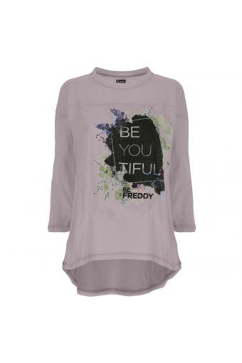 Kurzarm-T-Shirt aus Noppenjersey