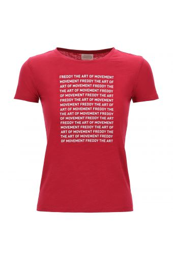 100% cotton slub jersey t-shirt with lettering