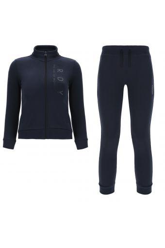 Regulärer Trainingsanzug mit Reißverschluss aus aufgerautem Sweatshirtstoff und Aufdruck auf der Vorderseite