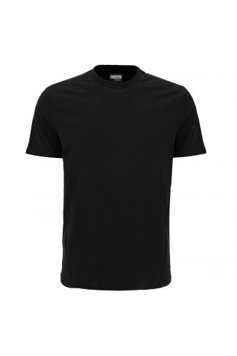 Stretch jersey t-shirt with tone-on-tone bands