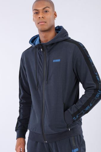 Hoodie with mesh inserts and a No-Logo logo
