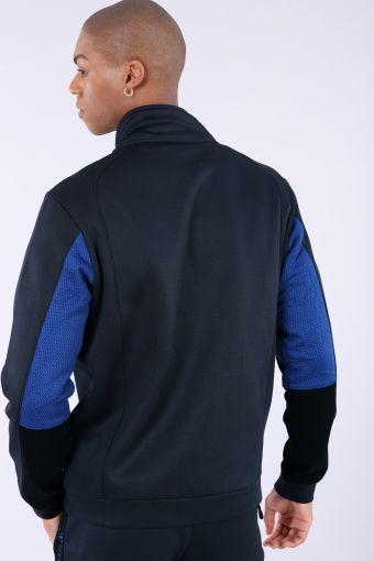 Comfort fit No-Logo sweatshirt with mesh inserts
