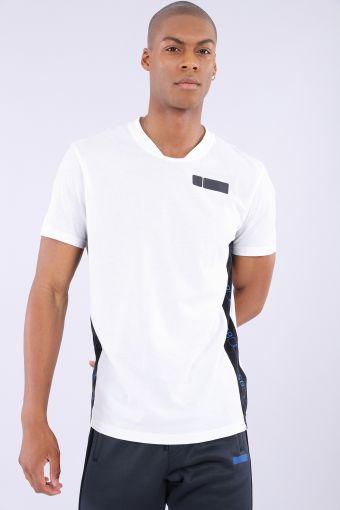 Camiseta regular blanca inserciones en contraste FSB