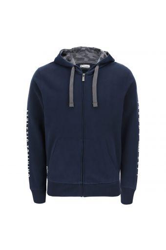 """Sweatshirt mit """"Pfirsichhauteffekt"""", Kapuze und Aufschrift"""