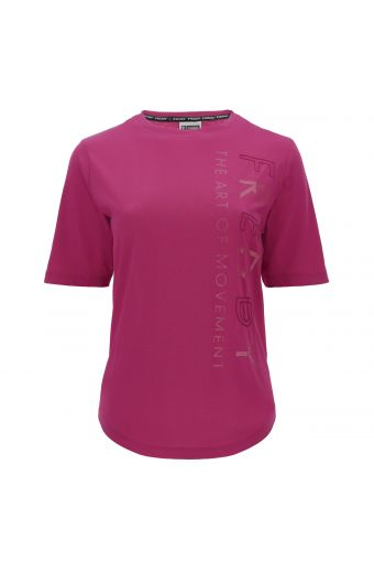 Comfort fit t-shirt made from light jersey with print and embroidery