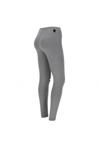 Lurex leggings with knee opening