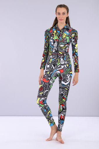 Tuta jumpsuit con cappuccio - Laolu NYC Woman Collection