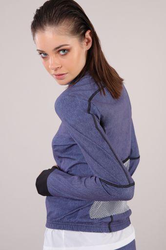 Long-sleeved yoga sweatshirt with zip 100% Made in Italy