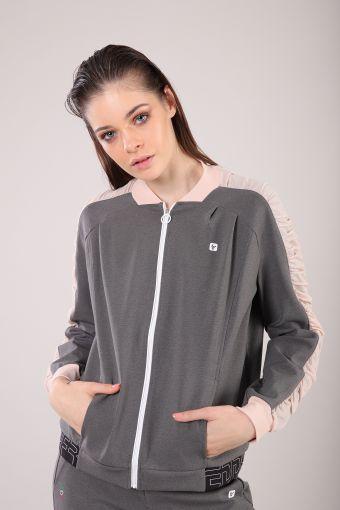 Short yoga sweatshirt with zip 100% Made in Italy