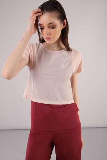 Short-sleeved yoga T-shirt made of nylon and jersey 100% Made in Italy