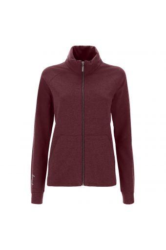 Regular fit sweatshirt in melange with high neck