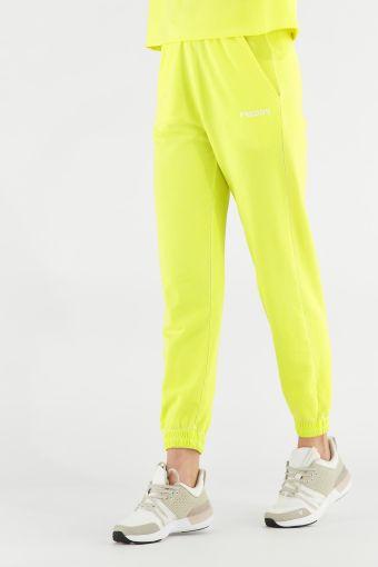Pantalons de sport couleur fluo avec élastique