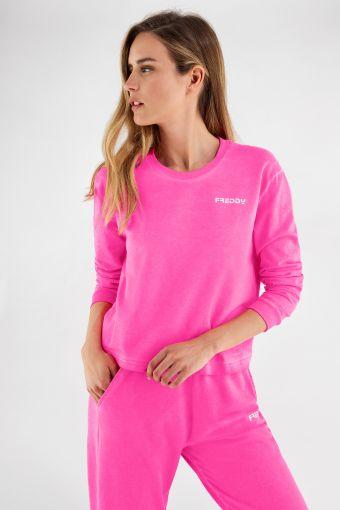 Neon crewneck sweatshirt