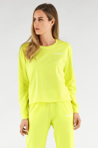 Sweat col rond couleur fluo