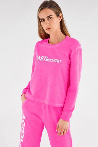 Neon sweatshirt with The Art Of Movement motif
