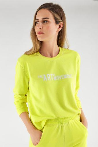 Sweatshirt in Fluo-Farbe mit Aufdruck The Art Of Movement