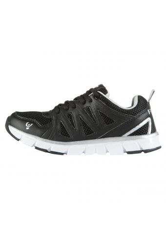 Fitlite Junior sport shoe in breathable mesh with leather-effect details